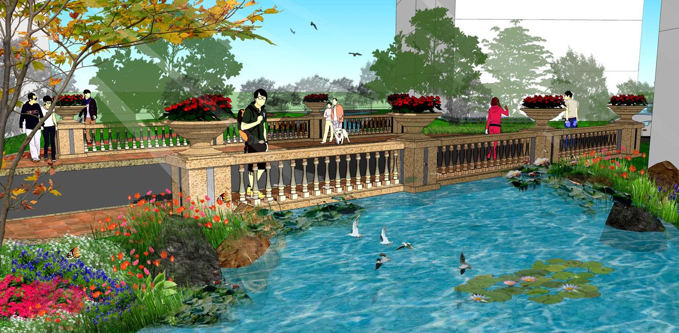 水系小院花园设计图片图片